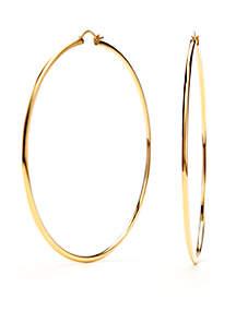 Nadri Gold-Tone Extra Large Hoop Earrings