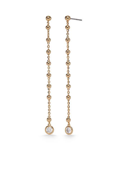 Nadri Gold-Tone Cubic Zirconia Linear Earrings