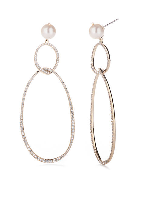 Nadri Gold-Tone Lanai Large Drop Post Earring
