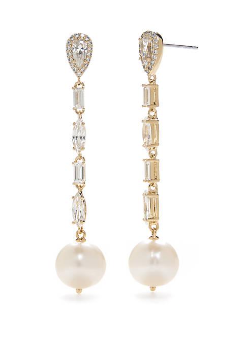 Nadri Gold-Tone Cadence Linear Drop Earrings