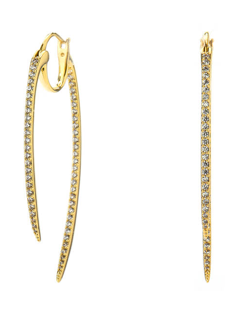 Curved Spike Hoop Earrings
