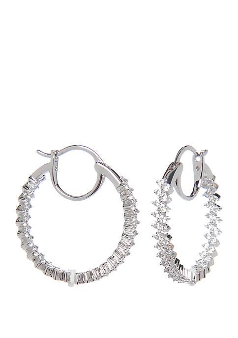 Mila Inside Out Hoop Earrings