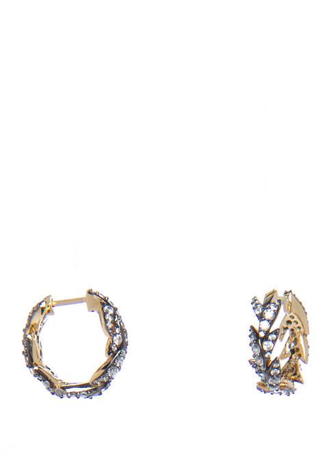 Liv Leaf Huggie Earrings
