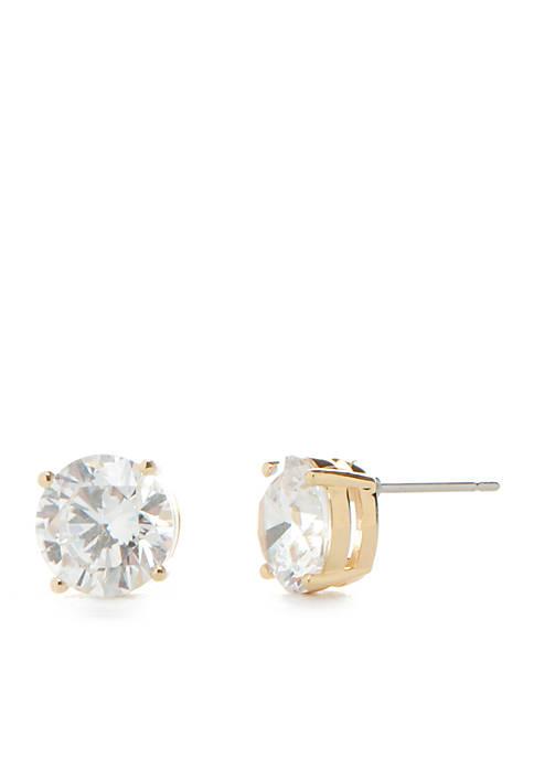 Nadri Cubic Zirconia Gold Stud Earrings