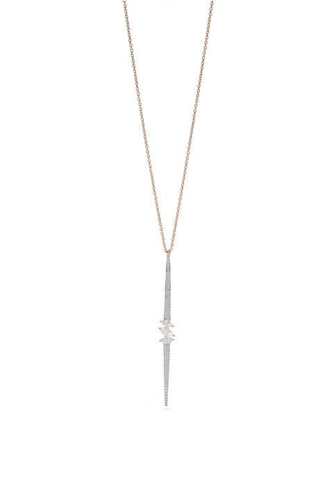 Nadri Breeze Stick Cubic Zirconia Pendant Necklace