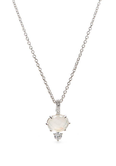 Silver Tone Bloom Pendant Necklace