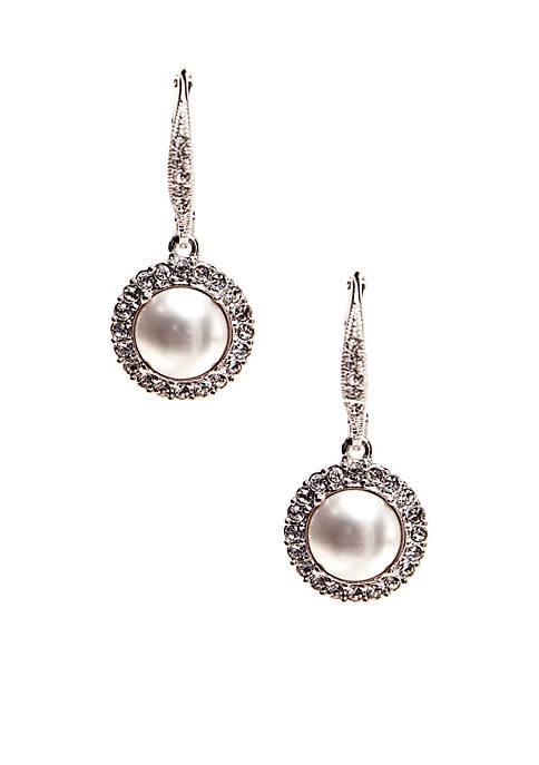Nadri Formed Drop Pearl Earrings