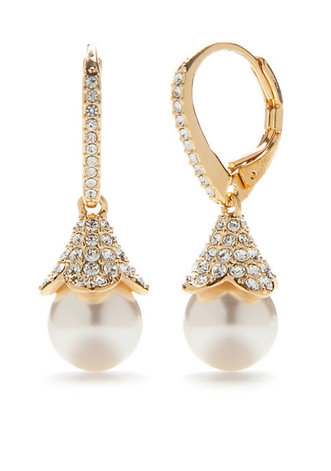 Nadri Gold-Plated Pearl Drop Earring