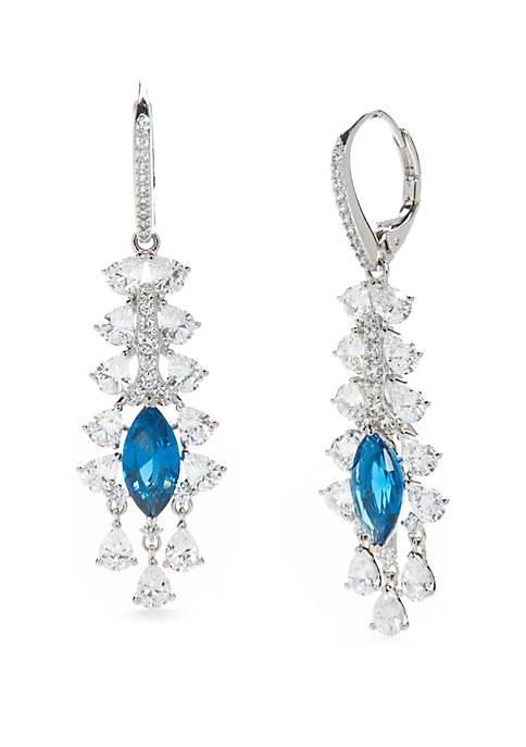 Nadri Silver-Tone Allergro Drop Earrings