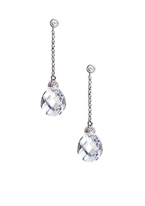 Nadri Hanging Briolette-Cut Cubic Zirconia Drop Earrings