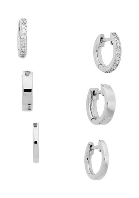 AVA Nadri Set of 3 Huggie Earrings