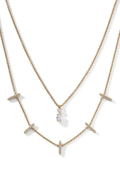 AVA Nadri Ava Double Layer Necklace
