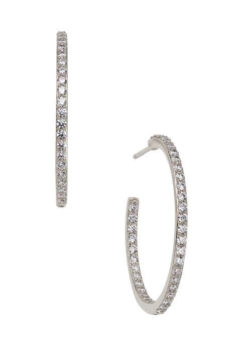 AVA Nadri Crystal Hoop Earrings