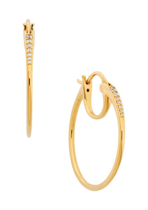 AVA Nadri Tapered Hoop Earrings