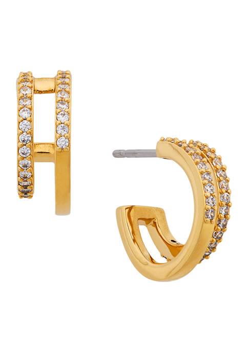 AVA Nadri Faux Double Hoop Earrings