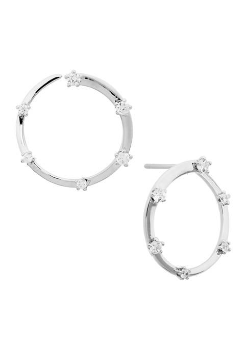 AVA Nadri Front To Back Hoop Earrings