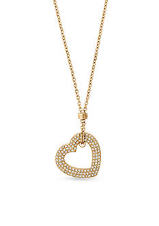 Michael Kors Mother's Day Gold-Tone Open Heart Pendant Necklace