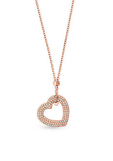 Michael Kors Mother's Day Rose Gold-Tone Open Heart Pendant