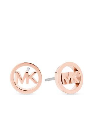 e27e412e1 Michael Kors. Michael Kors Haute Hardware MK Logo Rose Gold-Tone Stud  Earrings