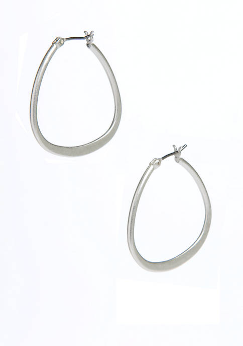 Kenneth Cole Teardrop Hoop Earrings