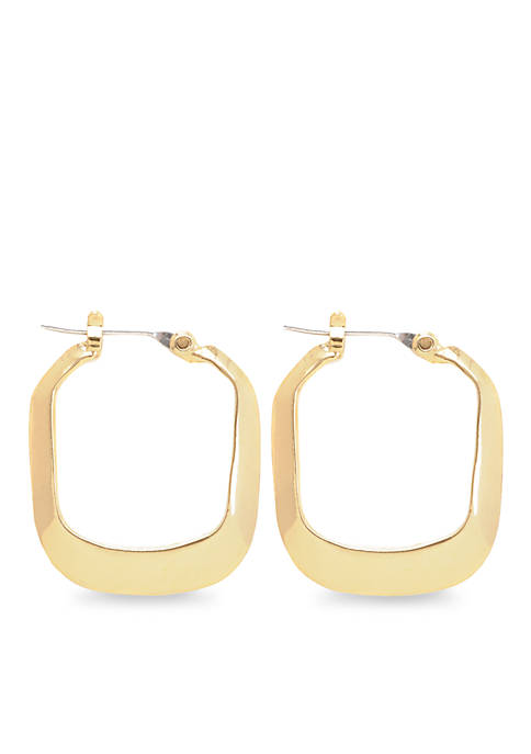 Small Rectangle Hoop Earrings