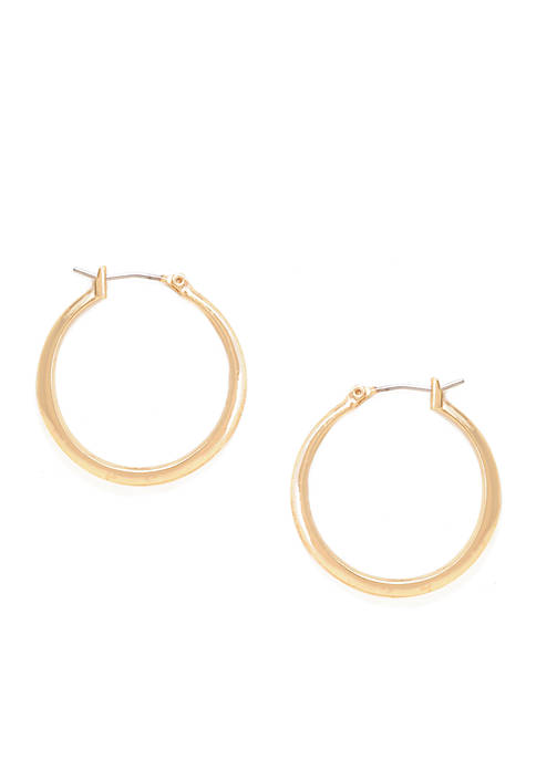 Kenneth Cole Small Gold-Tone Hoops