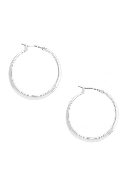 Kenneth Cole Small Silver Hoop Earrings