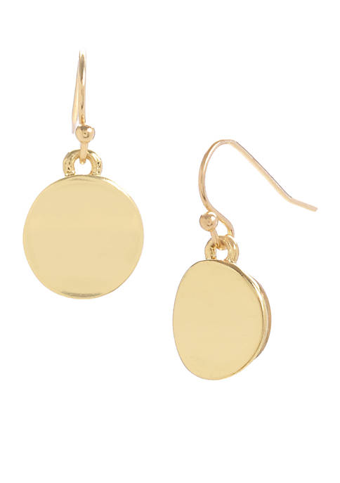 Kenneth Cole Small Gold Circle Earrings