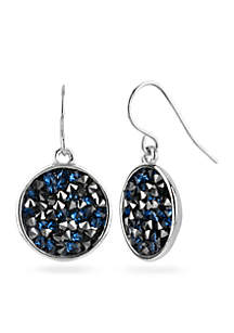 Faceted Bead Disc Drop Earring