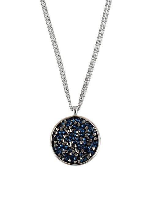 Kenneth Cole Faceted Bead Round Pendant Necklace