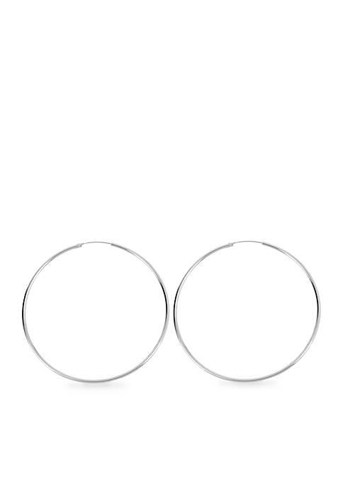 Kenneth Cole Large Silver Hoop Earrings