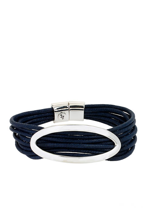 Kenneth Cole Oval and Cord Multi Row Bracelet