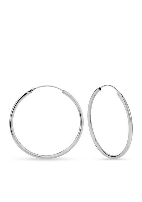 Kenneth Cole Silver-Tone Medium Hoop Earring
