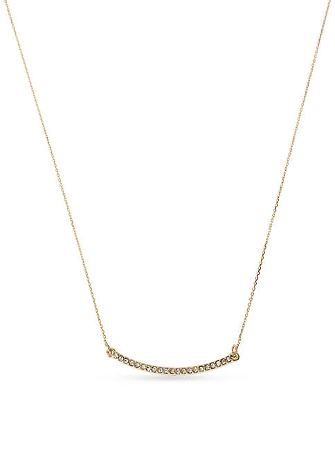 Kenneth Cole Gold-Tone Pave Bar Pendant Necklace