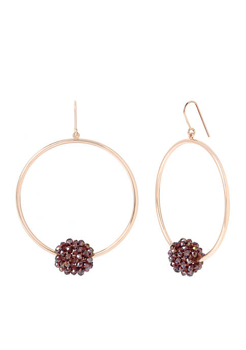 Kenneth Cole Gypsy Hoop Earring with Violet Woven