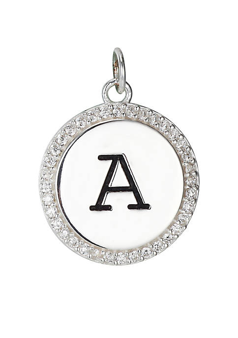 Belk Silverworks Southern Charm Round Cubic Zirconia Initial