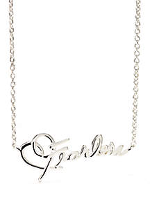 Sterling Silver Fearless Script Necklace