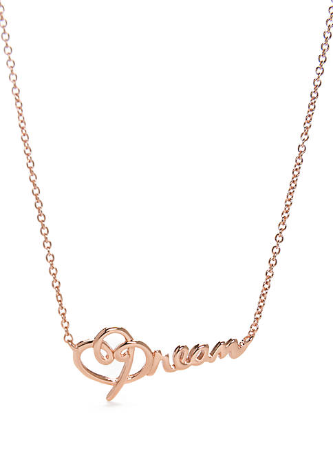 Belk Silverworks Dream Script Layering Necklace