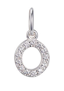 Belk Silverworks Southern Charm Sterling Silver Small Pave Initial Charm