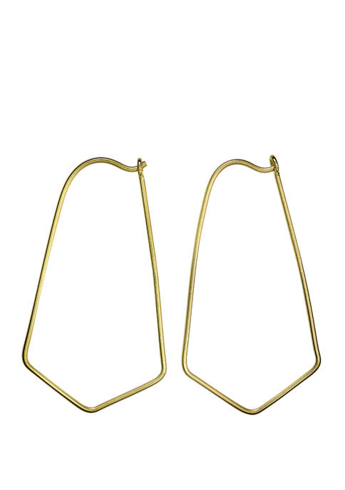 Belk Silverworks Gold Plated Open Design Drop Endless