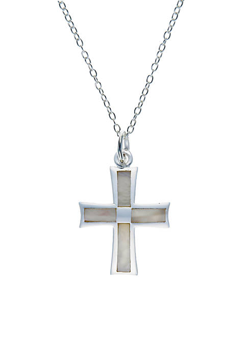 Belk Silverworks Sterling Silver Mother Of Pearl Cross