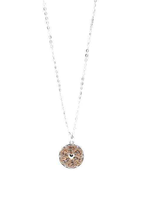 Overlay Pendant Necklace
