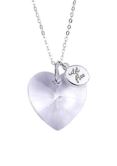 Belk Silverworks Silver-Plated Clear Swarovski Heart Wild and
