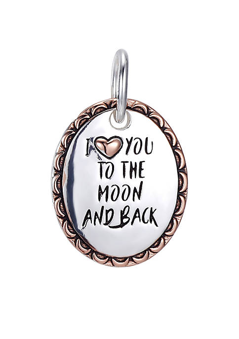 Southern Charm I Love You to the Moon and Back Two Tone Charm