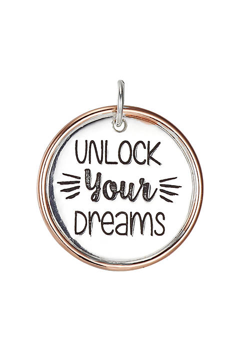 Southern Charm Unlock Your Dreams Two Tone Round Charm