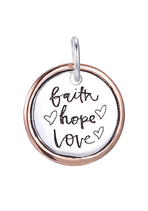Belk Silverworks Southern Charm Faith, Hope, Love Round