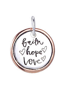 Southern Charm Faith, Hope, Love Round Two Tone Charm