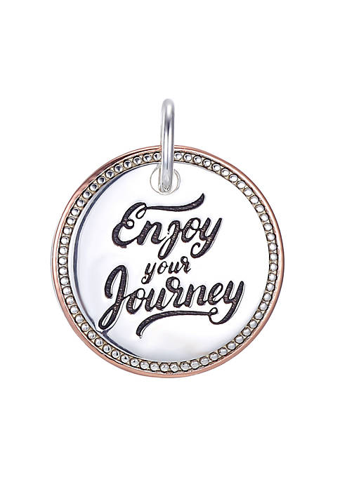 Southern Charm Sterling Silver and Rose Gold Plated Enjoy Your Journey Charm