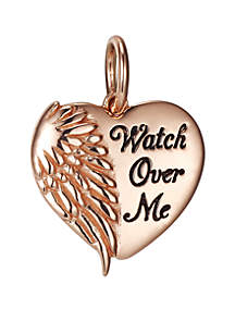 Sterling Silver and Rose Gold Watch Over Me Charm