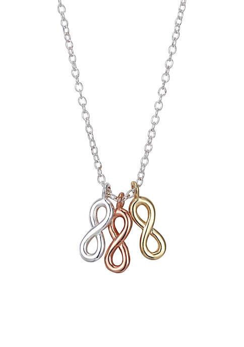 Tri-Tone Infinity Necklace